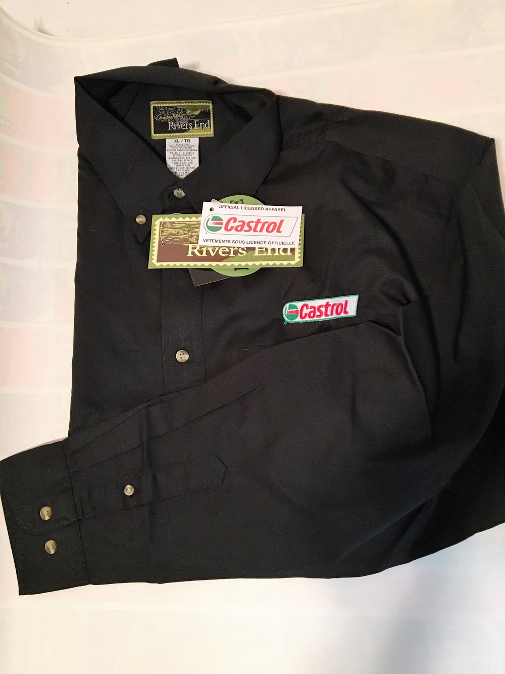 Castrol L/S Button Down $15