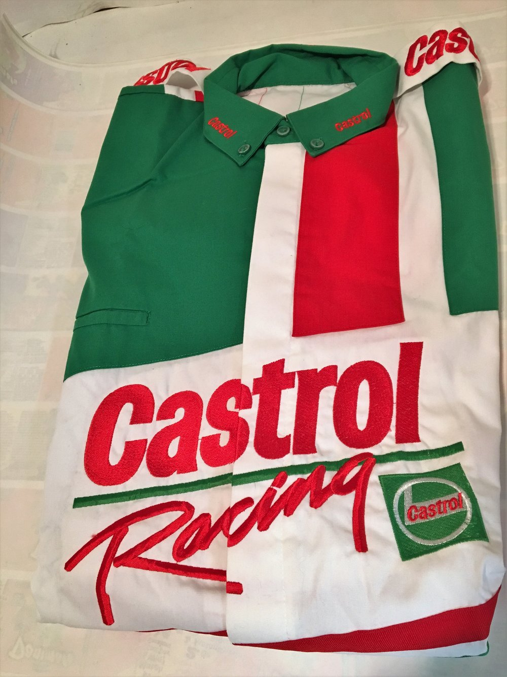 Castrol Racing Green Crew Shirt $25