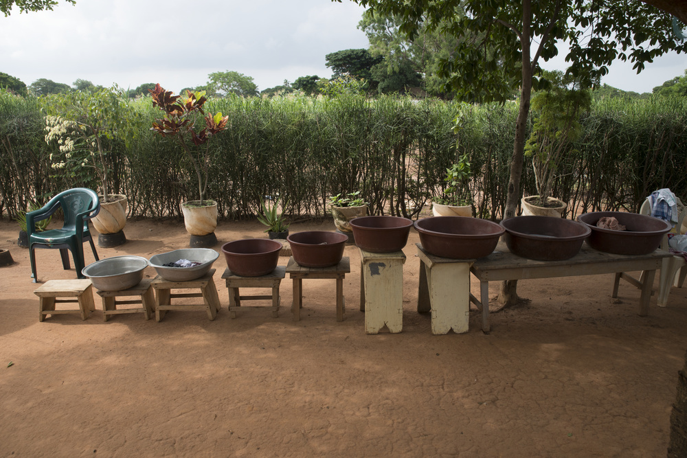 Tubs traditionally used by Ghanaians for washing laundry.