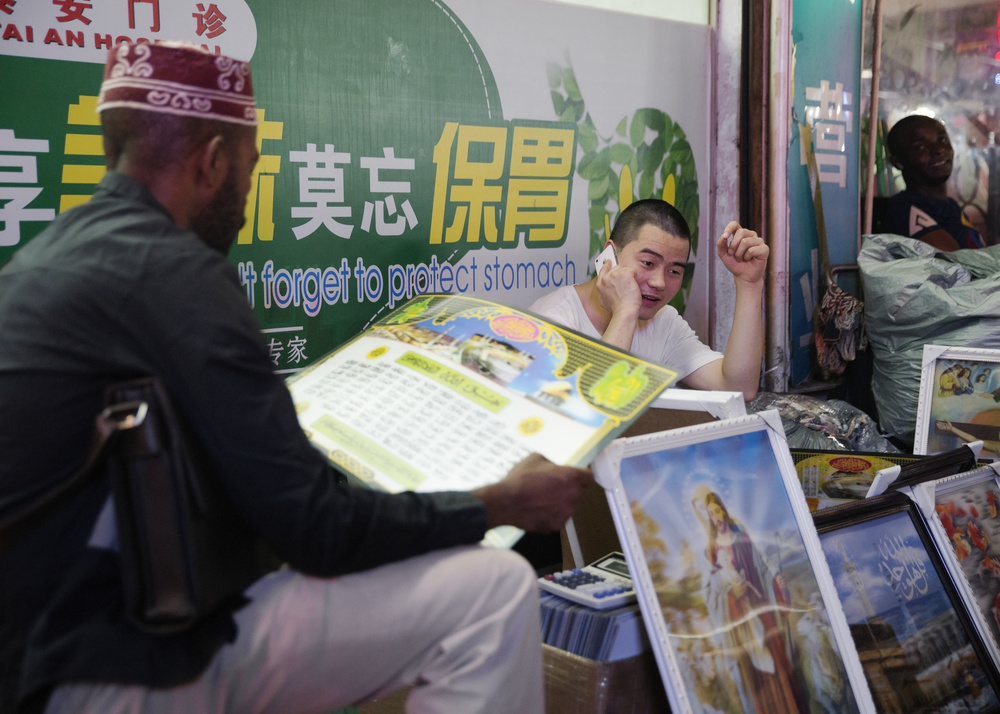 The Chinese adapt to the needs and wants of the African customer base, selling religious paraphernalia.