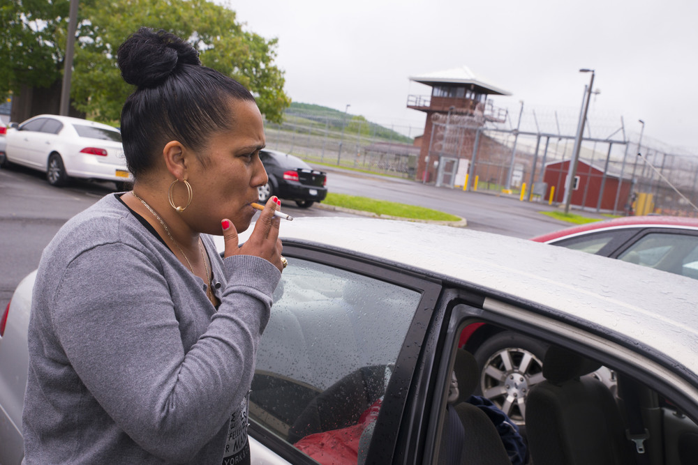India visits Green Eyes at Cayuga Correctional Facility every weekend.
