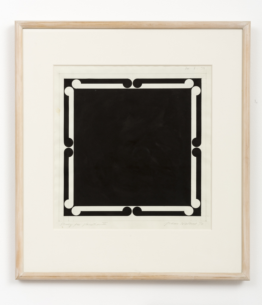 Gordon Walters,  Study for Variation #II , 1973, acrylic on paper, 330 x 320 mm, courtesy of the Walters Estate