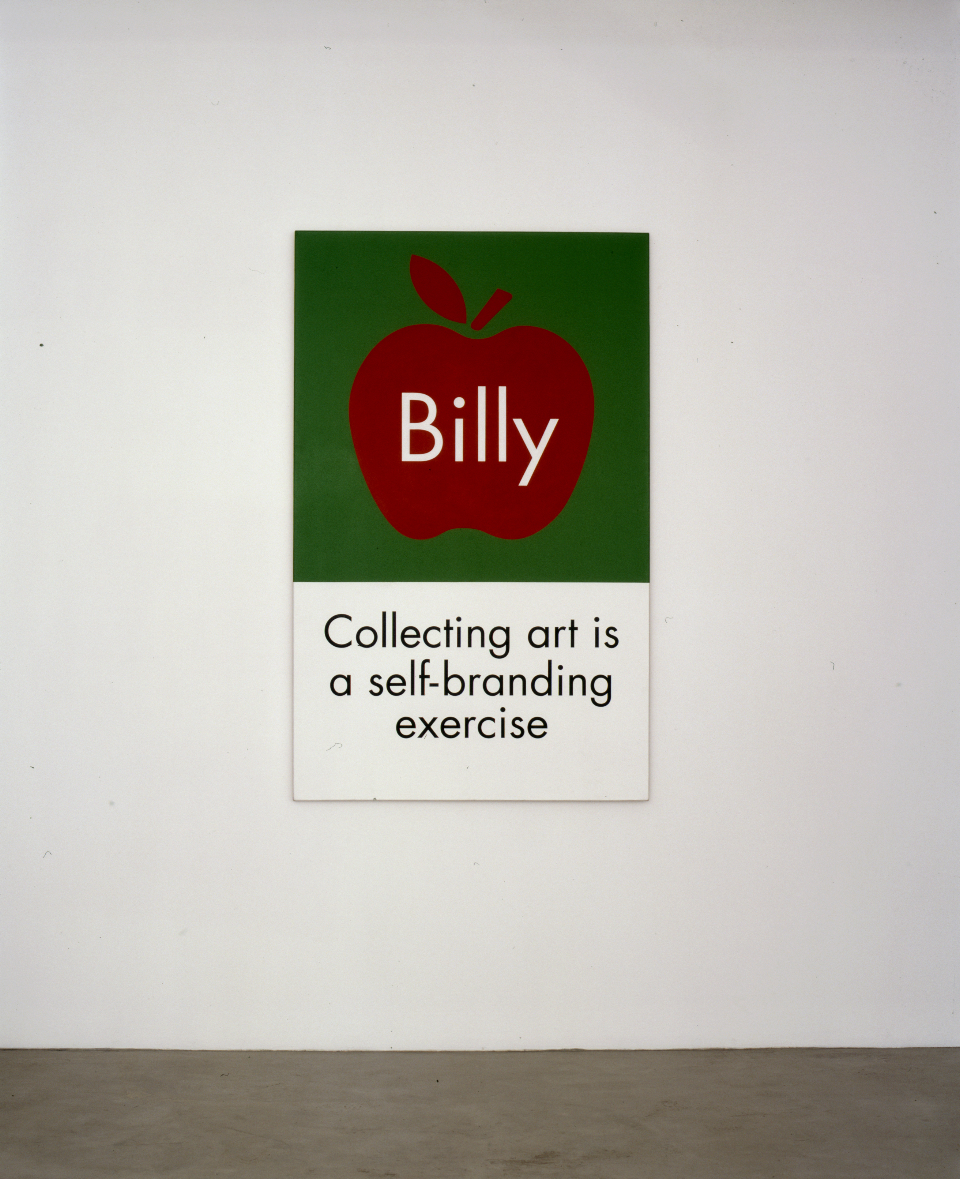 Collecting art is a self branding exercise 2002