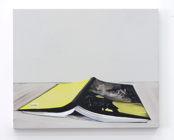 Whitney Bedford,  Book (Rothko) , 2013, ink and oil on panel 18 x 22 in. Photo: Evan Bedford