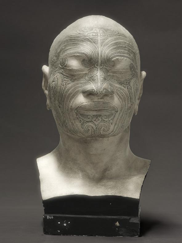 Portrait of a life-cast of Matoua Tawai, Aotearoa/New Zealand 2010