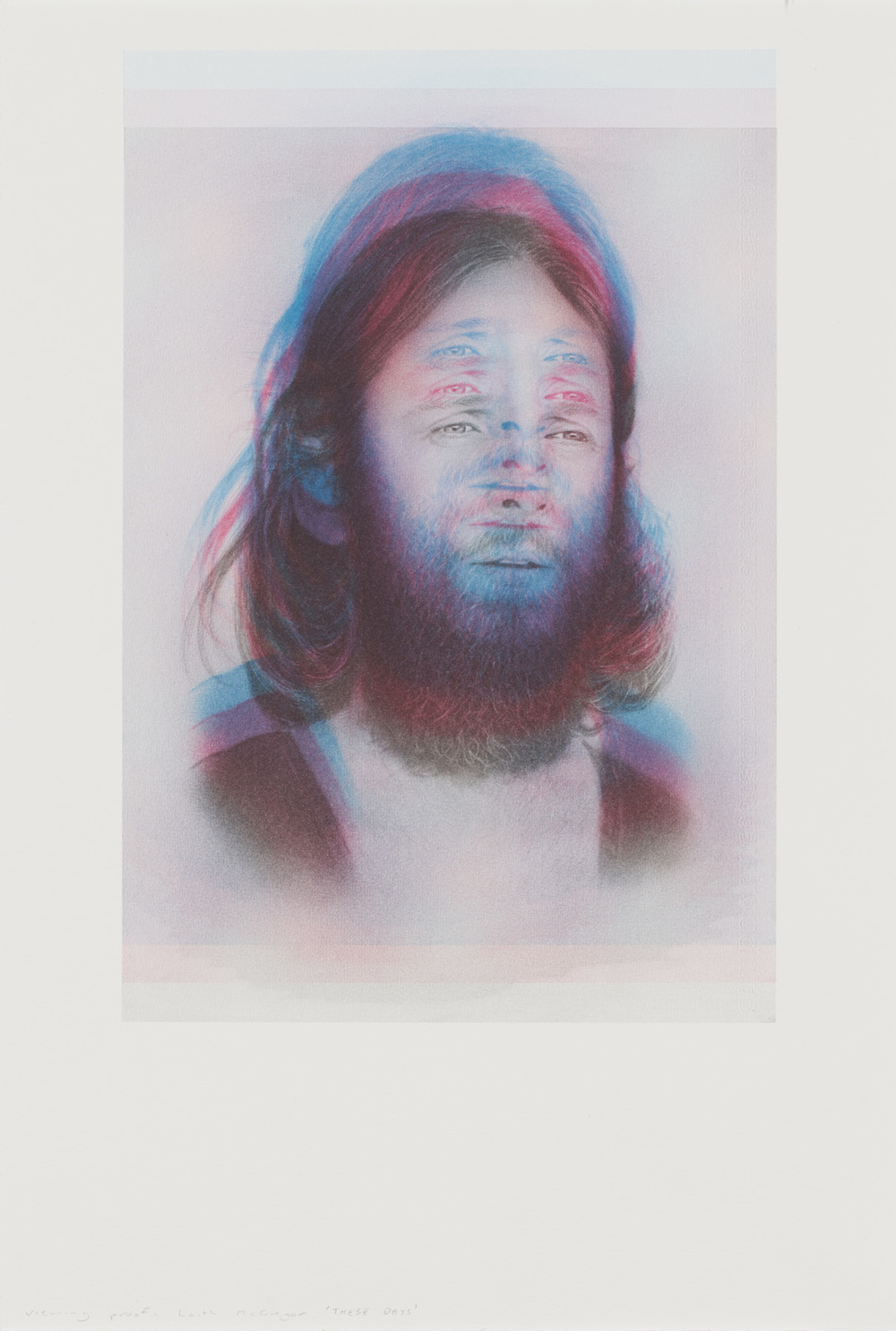 Laith McGregor,  These Days , lithograph, three photo-lithographic plates, printed in an edition of 20, plus proofs, Image size 410 x 275 mm, paper size: 560 x 380 mm