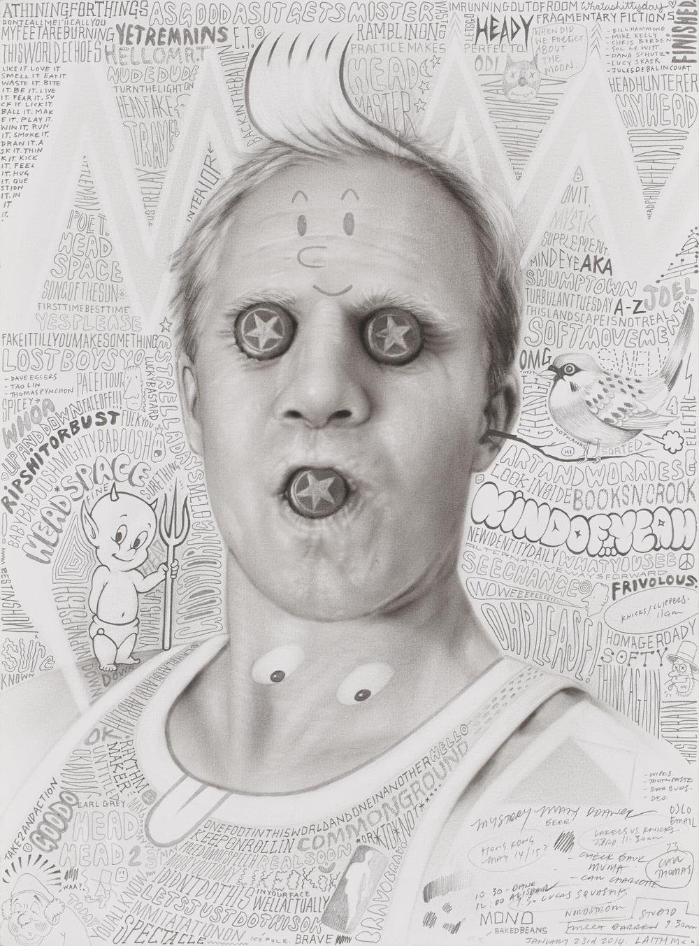 Laith McGregor,  AGAIG , 2014, pencil on paper, 460 x 360 mm