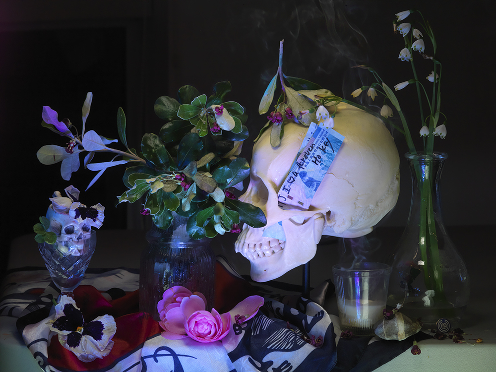 e-Kamo, Woman's Skull and 4 leaf Clover McCahon 2013_0942.jpg