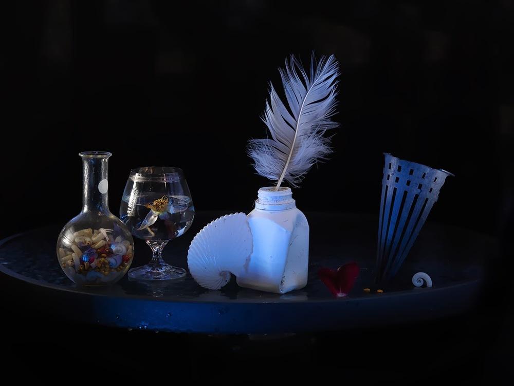 e-Precarious Trash Heru, White Feather and Pill Bottle_Ripiro 2013_1349.jpg
