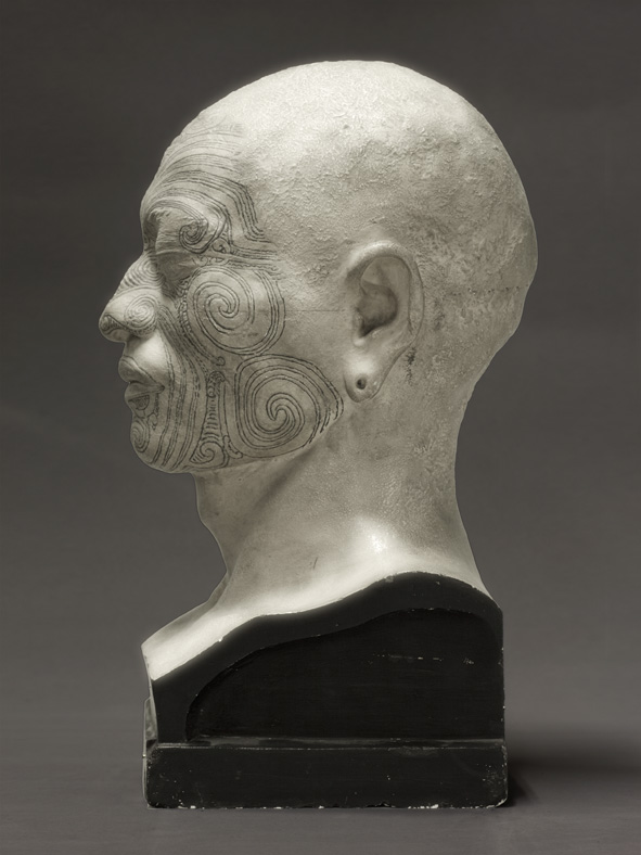 Portrait of a life cast of Matoua Tawai (right profile), Aotearoa New Zealand 2010