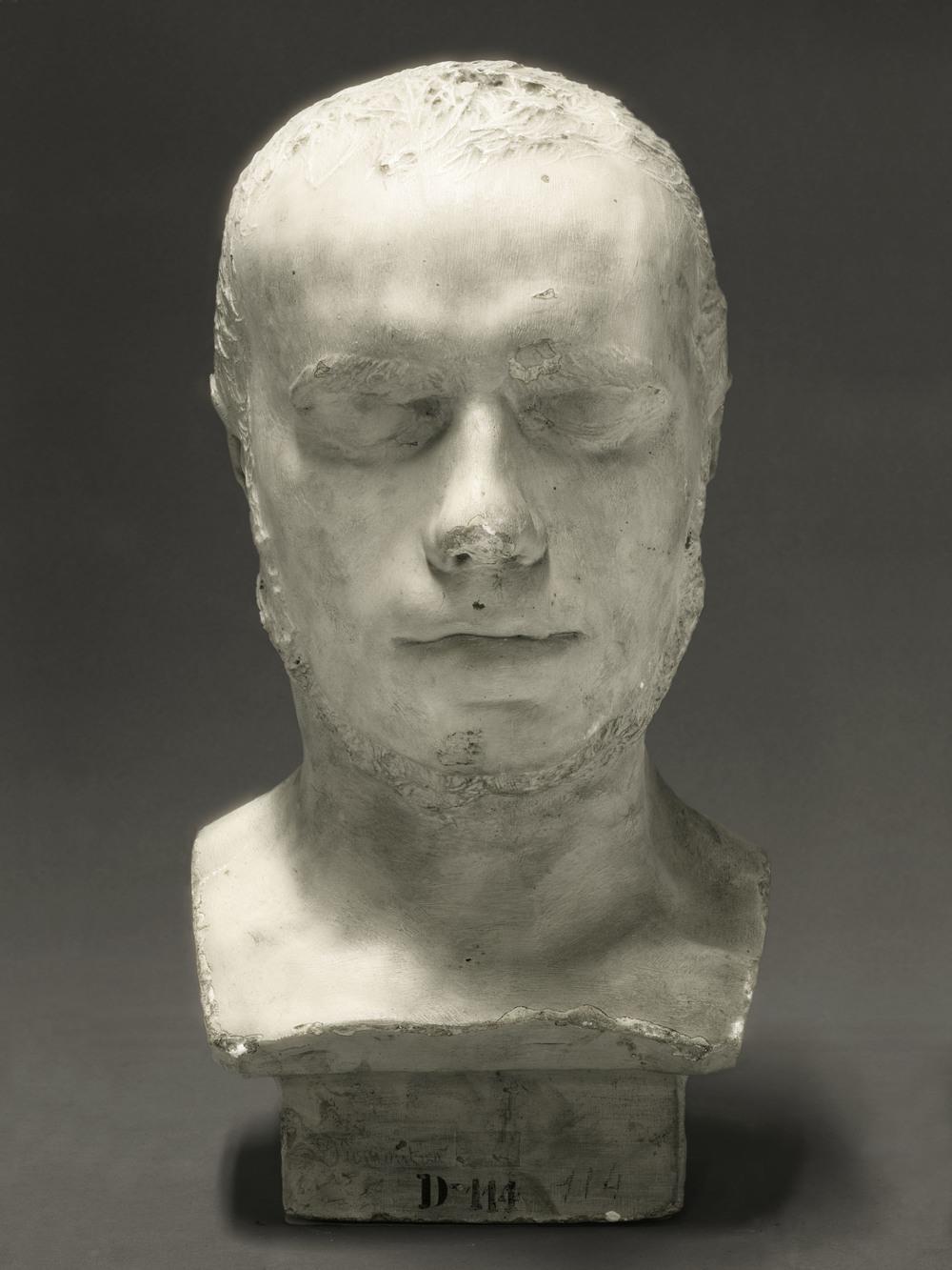 Portrait of a life cast of Pierre-Marie Alexandre Dumoutier 2010