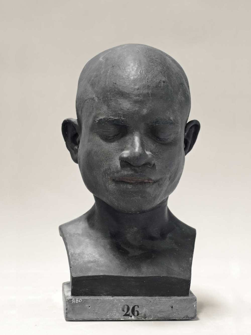Portrait of a life cast of Orion (painted), Papua New Guinea