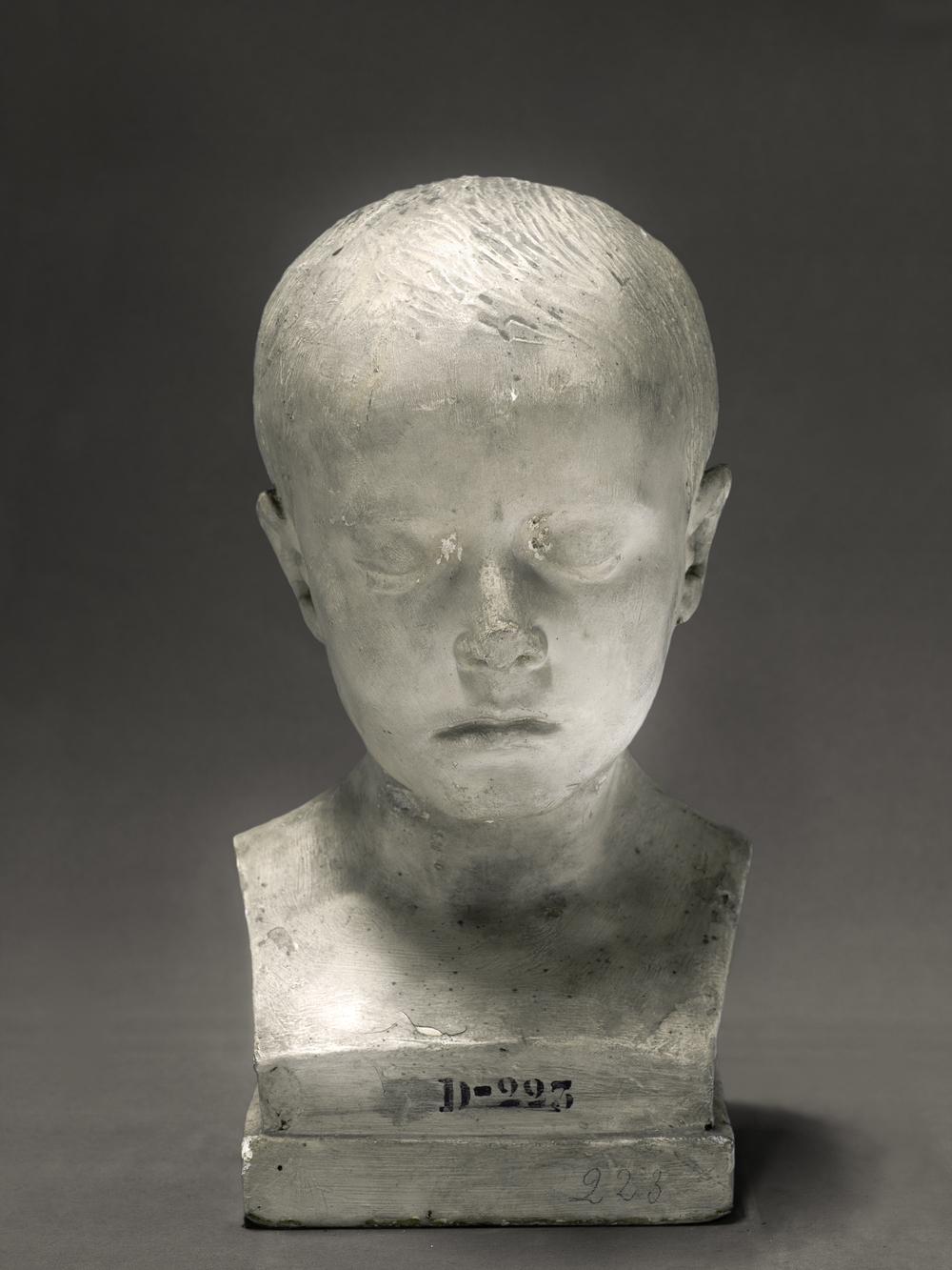 Portrait of a life cast of Jules d'Urville