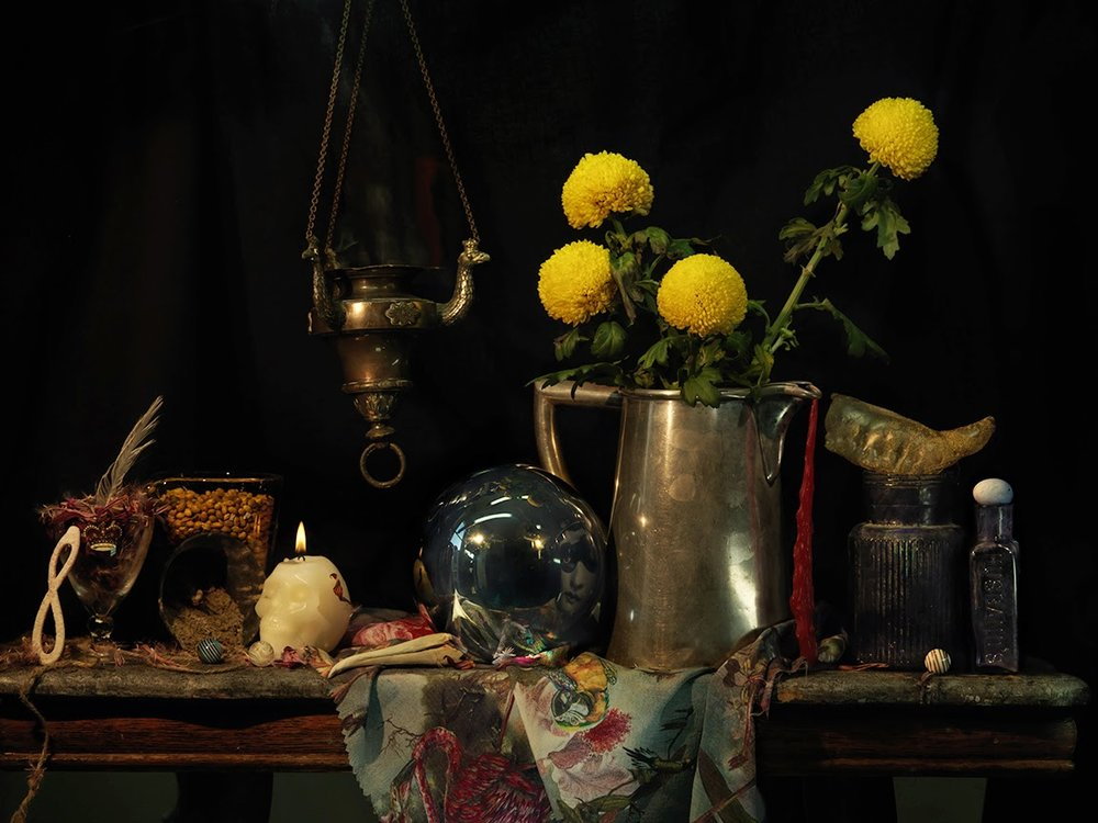 Still Life with Infinity Barette, Thurible, and a Silver Water Jug, Ripiro 2013