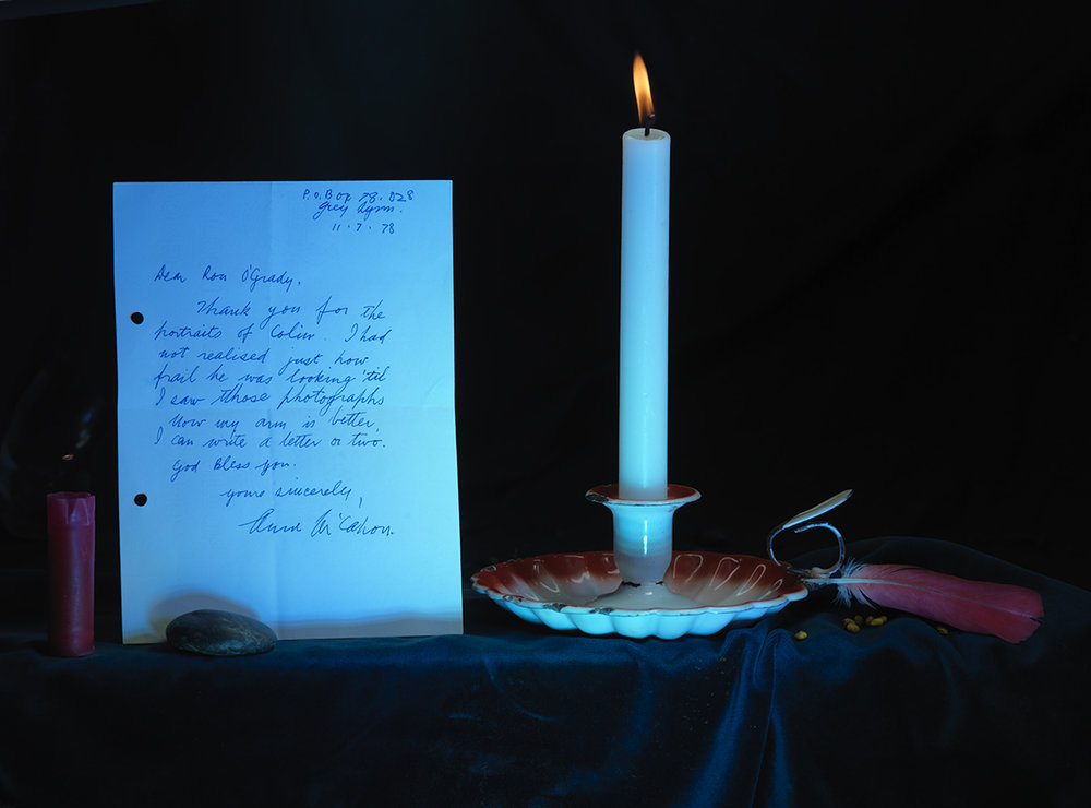 A472dpi-Anne's letter to Ron, Candle and Pounamu Arahura McCahon 2013_0256.jpg