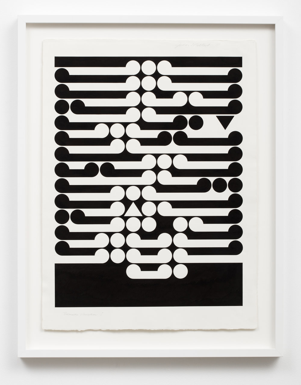 Gordon Walters,  Thematic Variation I , 1973, ink on paper, 605 x 455 image size, courtesy of Walters Estate