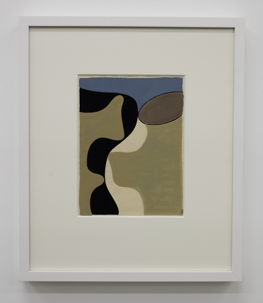 Gordon Walters,  Untitled , 1954, gouache, courtesy of Walters Estate