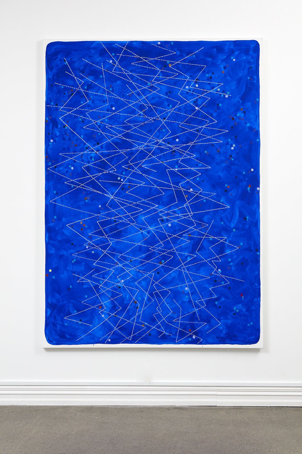 John Reynolds,  Headmap Footage #2 , oil paint marker and acrylic on canvas, 2130 x 1570 mm