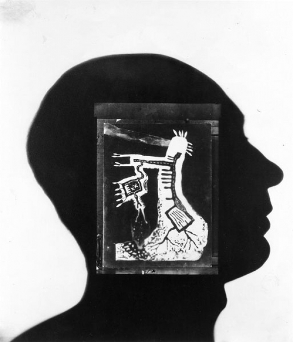 Len Lye (Self Portrait (With Night Tree), 1947, photogram