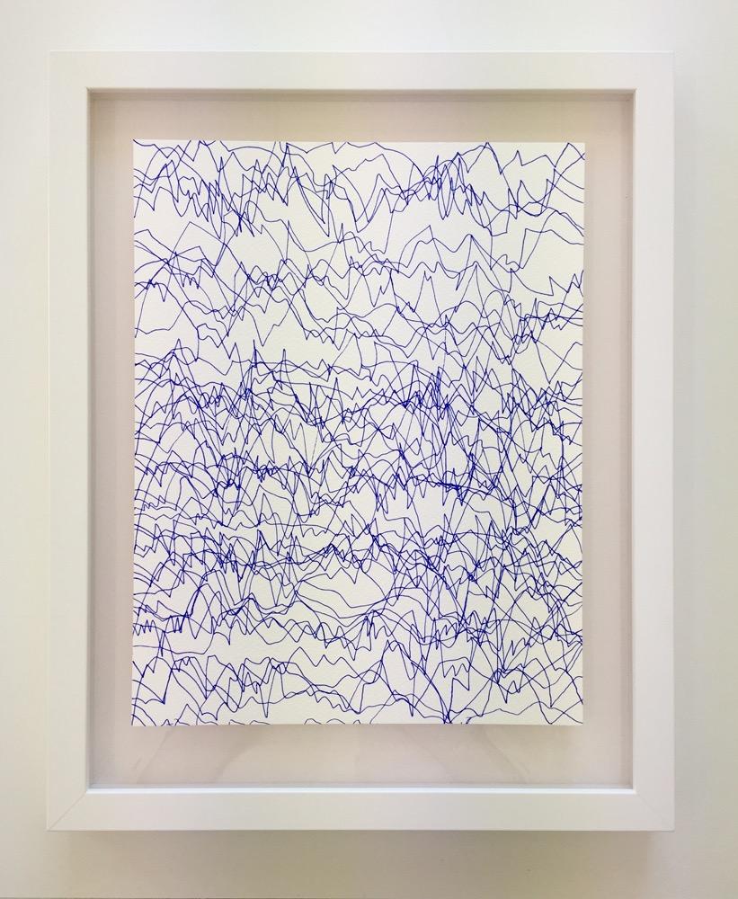Alicia Frankovich,  Intensities , 2016, pen on paper, 310 x 240 mm
