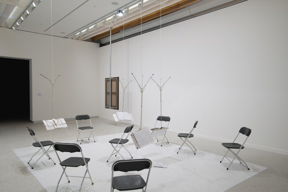 Alicia Frankovich,  Floor Resistance , Walters Prize exhibition, Auckland Art Gallery Toi o Tamaki, 2012 (installation view), first performed at Hebbel AM Ufer HAU 3, Berlin in 2011