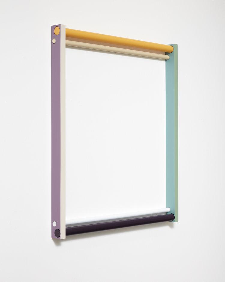 Seung Yul Oh,  Horizontal Loop #6 , 2017, acrylic on wood, 1000 x 900.