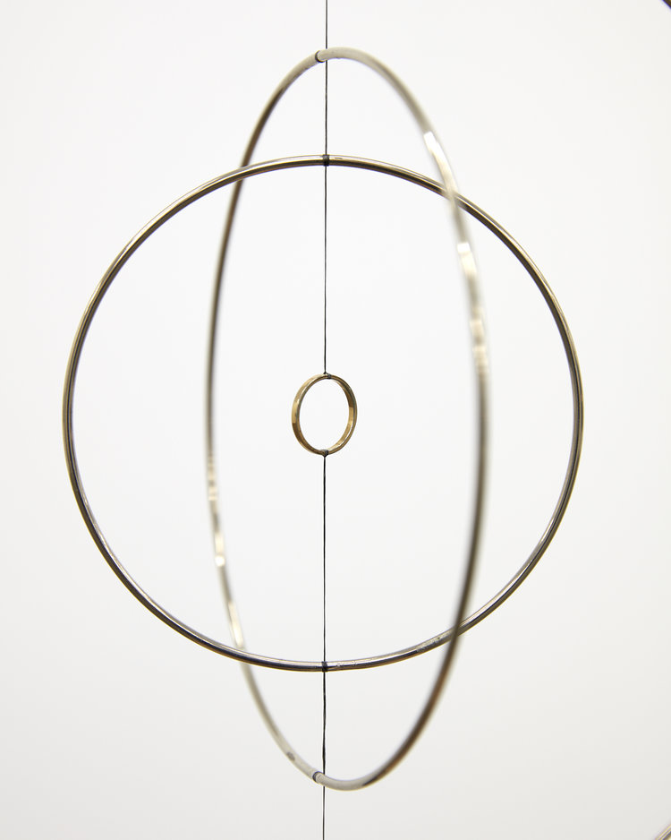 Len Lye,  Roundhead , 1961 (authorised reconstruction) (detail), steel, nylon, gold-plated copper with motor and ambient sound, Len Lye Collection/Govett-Brewster Art Gallery, image courtesy of the Len Lye Foundation.