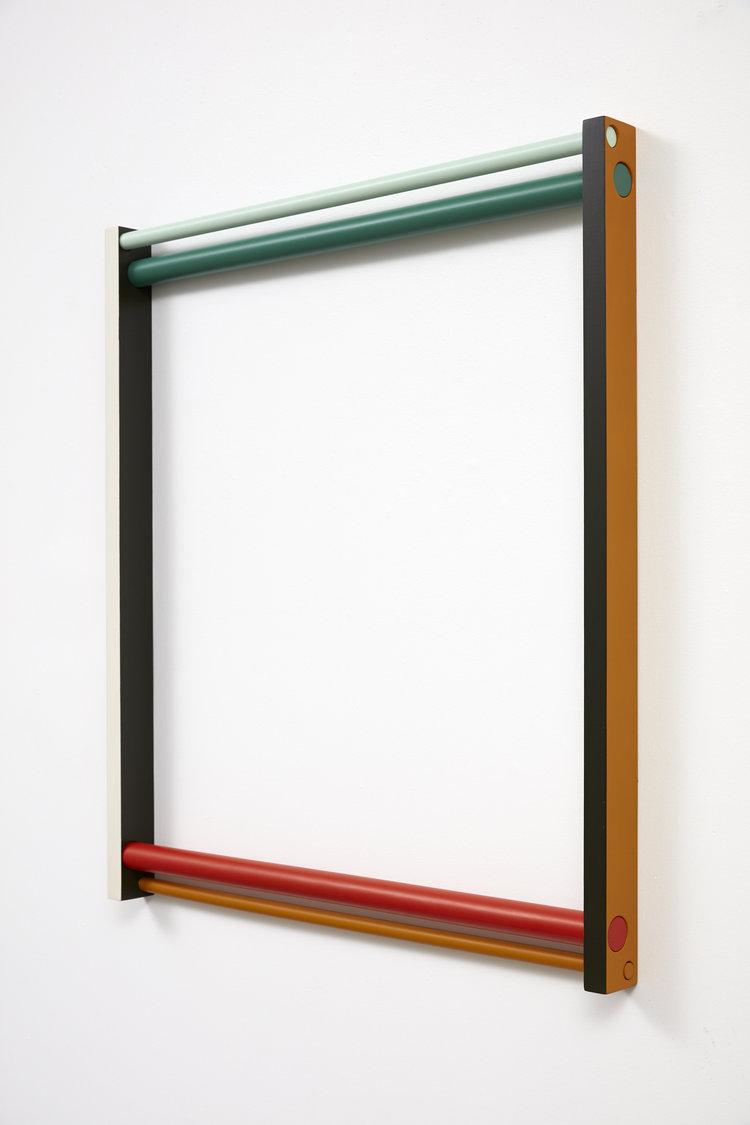 Seung Yul Oh,  Horizontal Loop #1 , 2017, acrylic on wood, 1000 x 900.