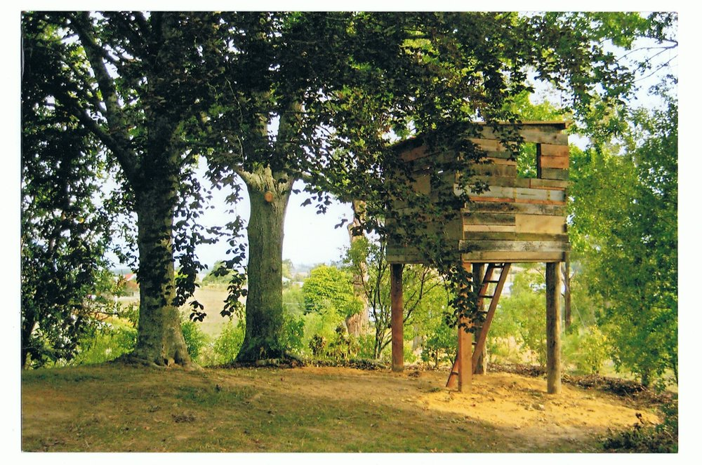 Tree Hut, 2008, materials; locally sourced wood, private commission, Nelson.