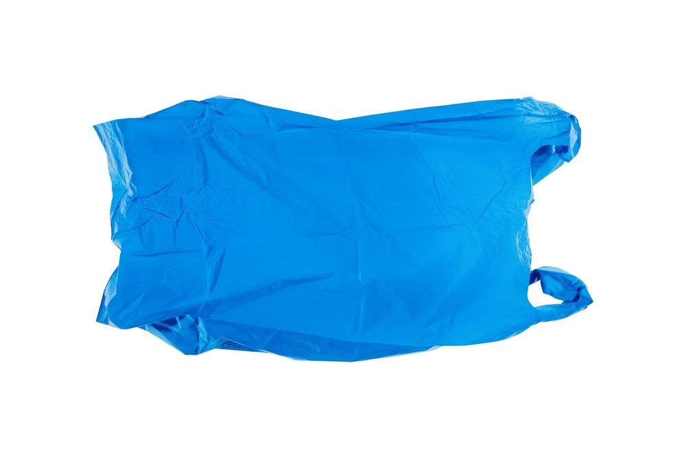Blue (bag with air), 2017, colour photograph, 600 x 900mm.