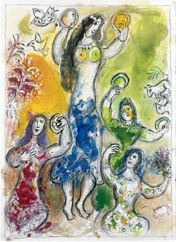 "Marc Chagall, ""The Dance of  Miriam """