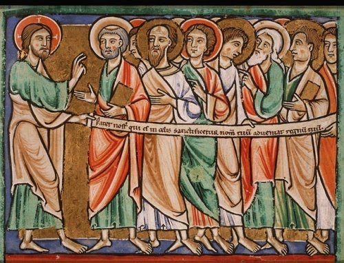 """""""Christ Teaching his Disciples to Pray,"""" by an Unknown French master, 13th century"""