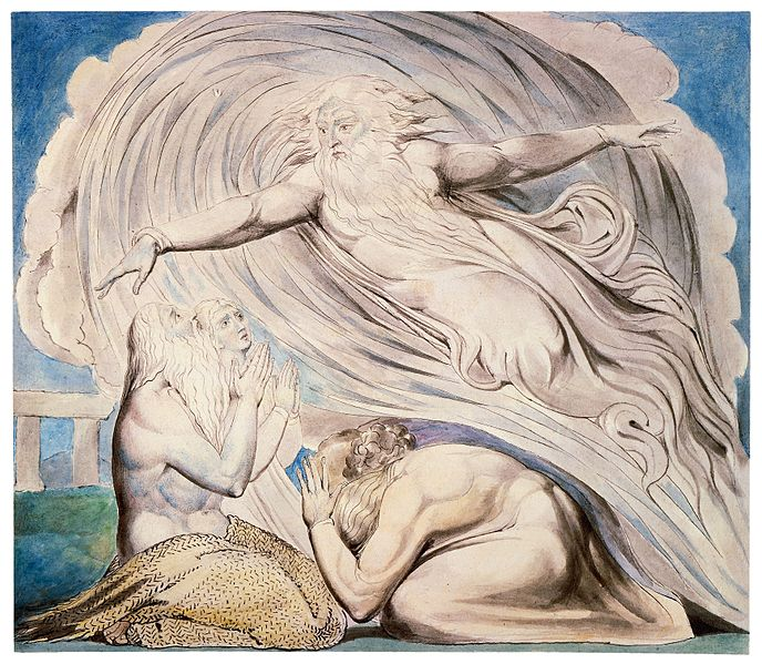 "William Blake, ""The Lord Answers Job Out of the Whirlwind,"" 1805."