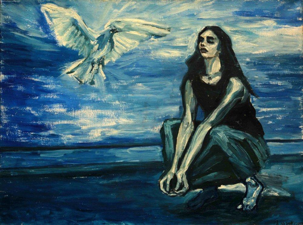 """The Blue Annunciation"", Marek Lazar  https://www.artdoxa.com/anima_maras/large?page=1"