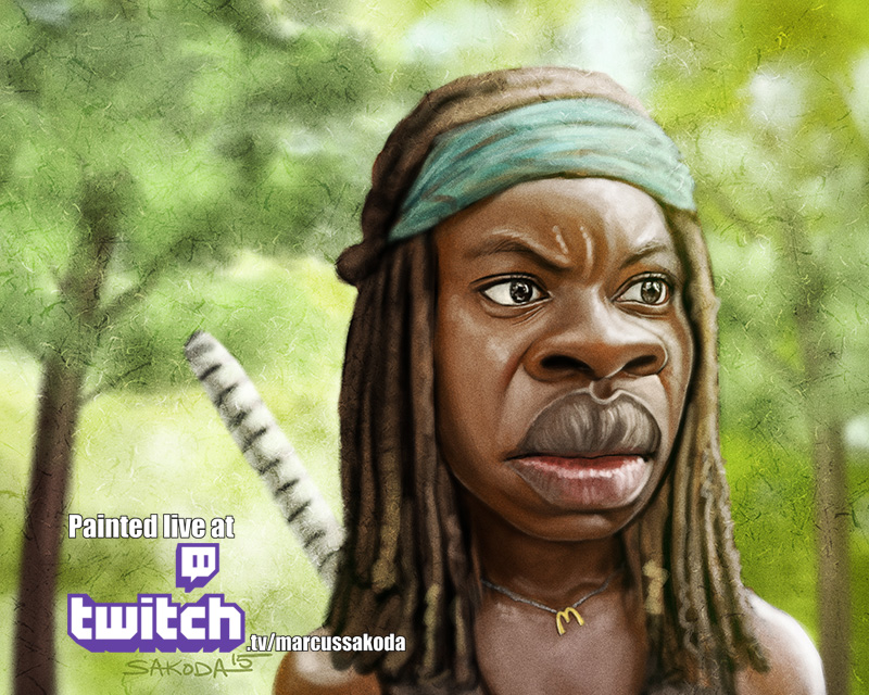 Michonne Caricature