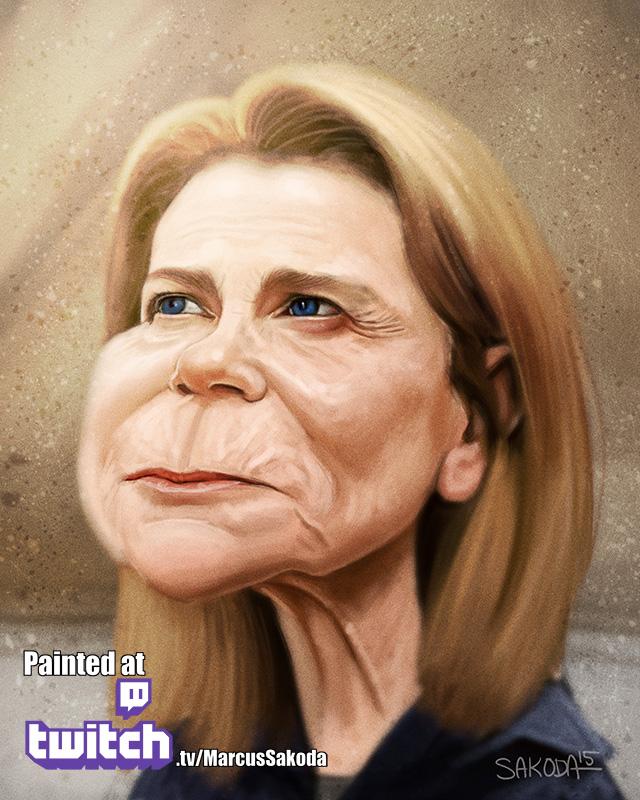 Deanna Caricature