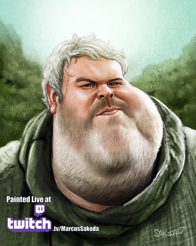 Hodor Caricature