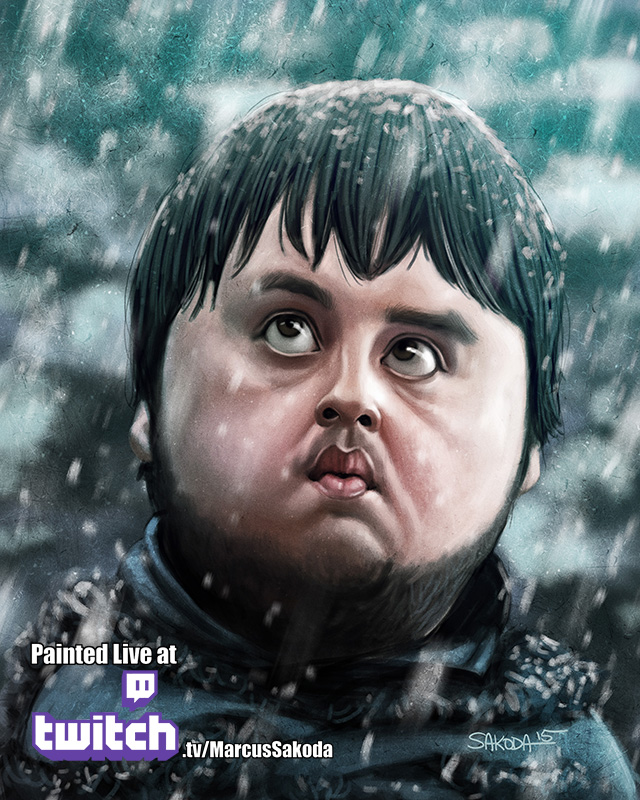 Sam Tarly Caricature