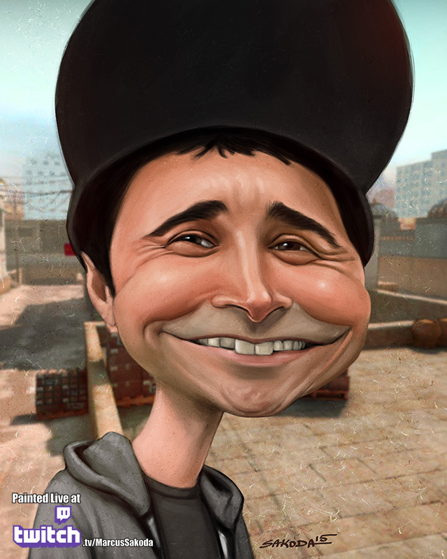 Summit1G Caricature