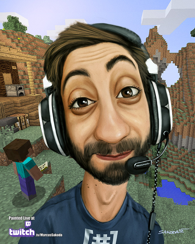 GiantWaffle Caricature