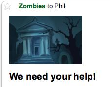Zombies help