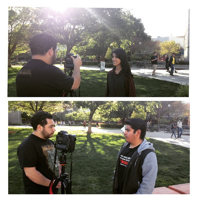 SAHEistas getting interviewed about tomorrow's event! Watch out for their interview, which will be available later this week! Thank you, @spartandaily ! #sjsu #Sahesjsu #spartandaily #immigration #ab540 #immigrationforum