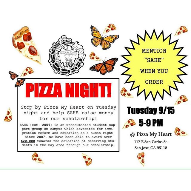 Come out to support our scholarship! 🍕