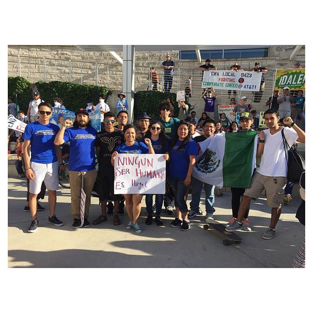 SAHE at the May Day March 2016 #immigrationreform #workersrights #sjsu