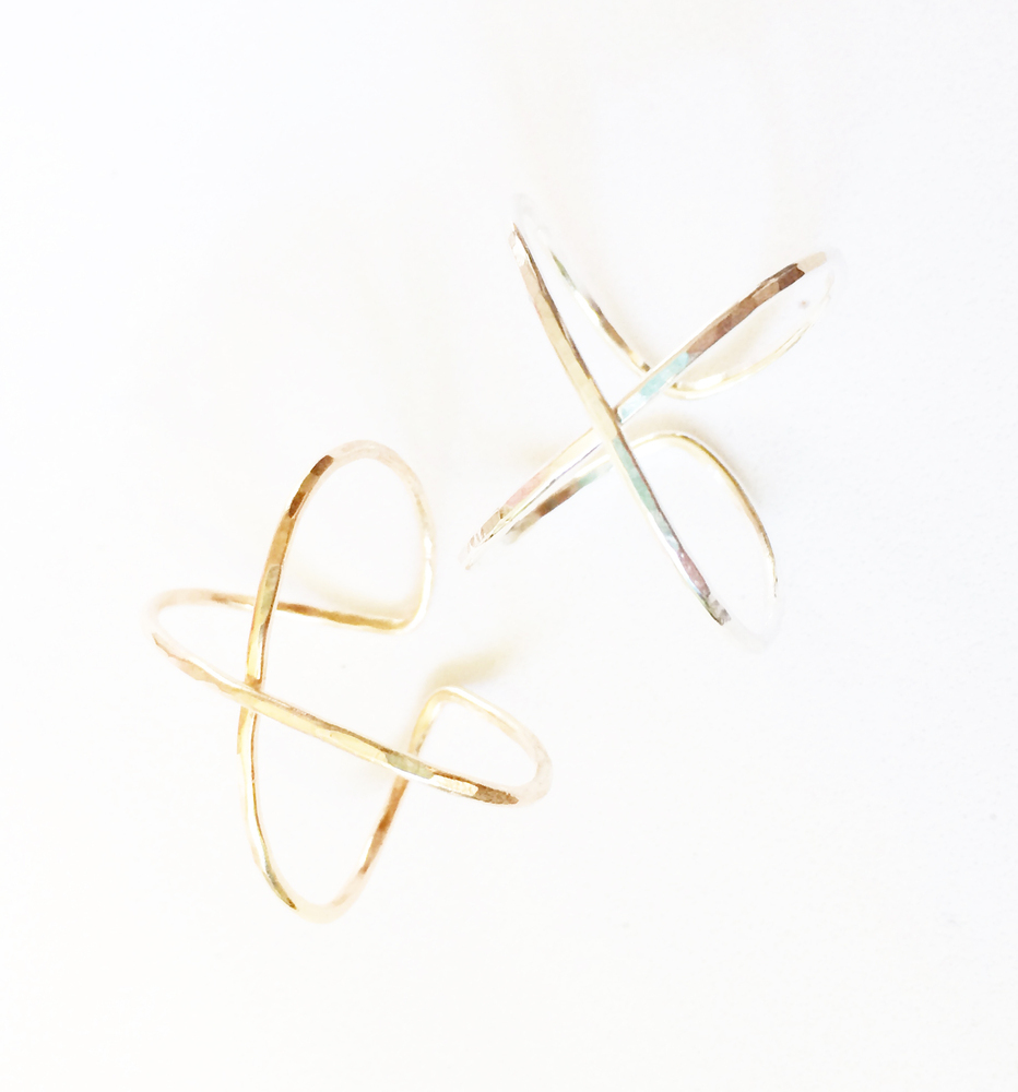 Kira Hawaii X Cuff Ring, $56