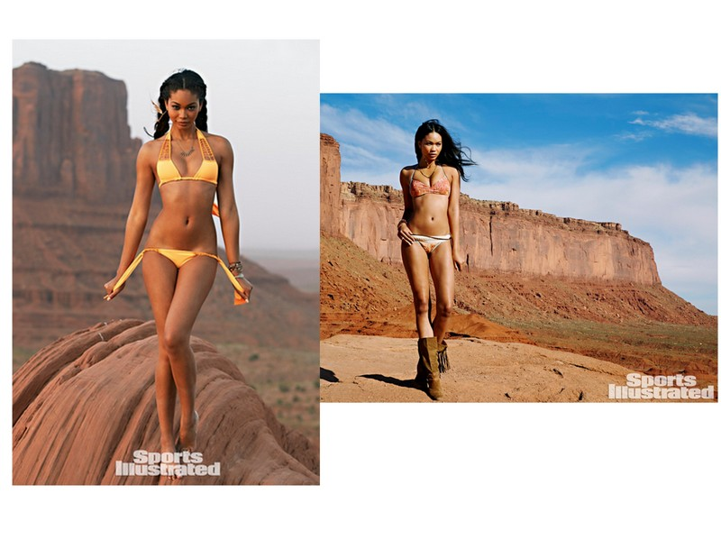 Chanel Iman photographed by James Macari in  ACACIA SWIMWEAR  and  MAUI GIRL BY DEBBIE WILSON