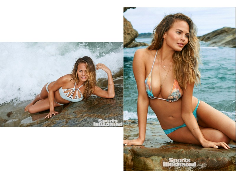 Chrissy Teigen photographed by Yu Tsai in  TORI PRAVER  and  SAN LORENZO