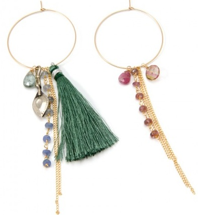 RUEBELLE FEATHER & OPAL EARRINGS