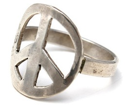 PEACE RING, $125, VIA WINGS HAWAII