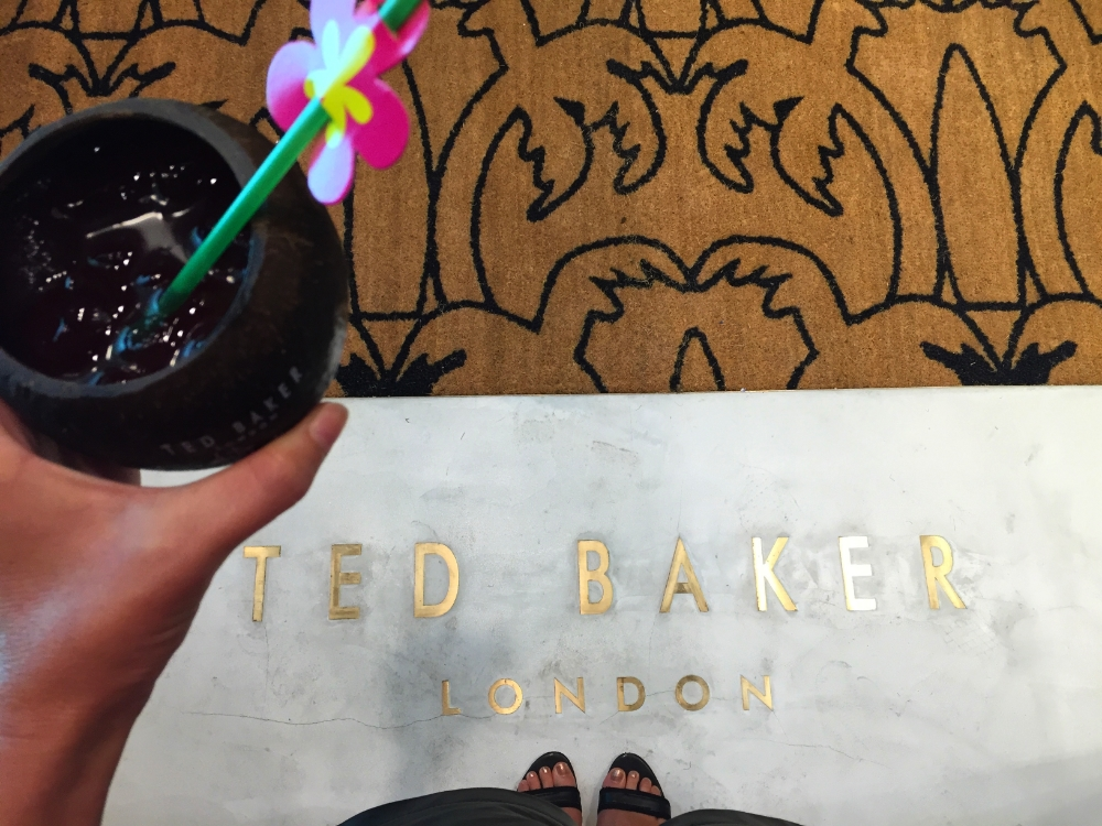 Tropical bevs at Ted Baker London, newly opened in the Ewa Wing at Ala Moana Center